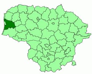 Klaipėda District Municipality - Image: Klaipeda district location