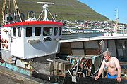 A local fisherman in Klaksvík