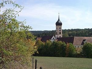 Kloster Oberschoenenfeld Schwaben Ansicht West