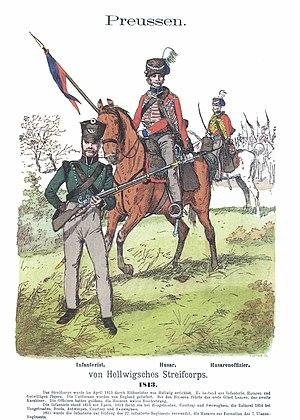 Battle of Courtrai (1814) - Hellwig's Streifcorps