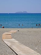 Kokkinos Pyrgos' beach and Paximadia islands.JPG