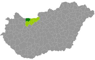 Komárom District Districts of Hungary in Komárom-Esztergom