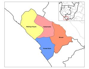 Kouilou Department - Districts of Kouilou