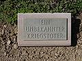 Kriegsopferfriedhof Kloster Arnsburg Grabstein Unbekannter Kriegstoter.JPG