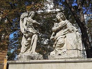 Sousoší Zvěstování Panny Marie od Jeana Baptista Dusarta