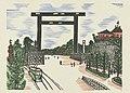 Kudan torii Torii of Kudan (titel op object) Herinneringen aan Tokyo (serietitel) Tokyo kaiko zue (serietitel), RP-P-2004-84-5.jpg