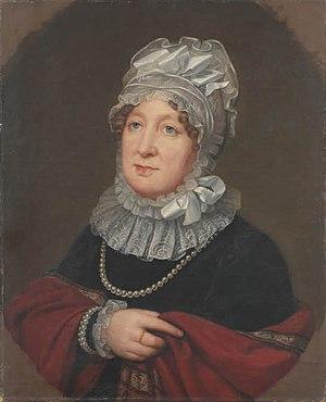 Princess Wilhelmina Caroline of Denmark - Portrait by August von der Embde, 1818