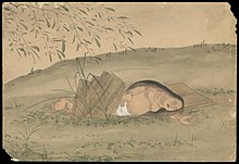 Kusozu; the death of a noble lady and the decay of her body. Wellcome L0070290.jpg
