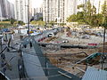 Kwun Tong Recreation Ground under rebuild in November 2014.JPG