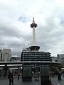 Kyoto Tower in front of Karasuma Entrance of Kyoto Station.jpg