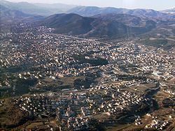 Aerial view of L'Aquila.
