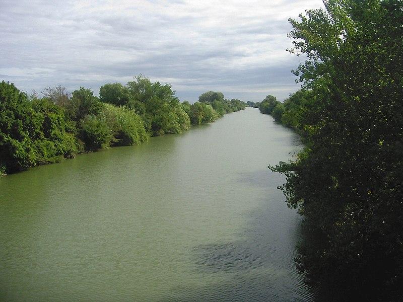 L'Aude près de l'embouchure à Salles d'Aude