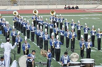 Los Altos High School (Los Altos, California) - The LAHS Marching Band, performing in uniform.