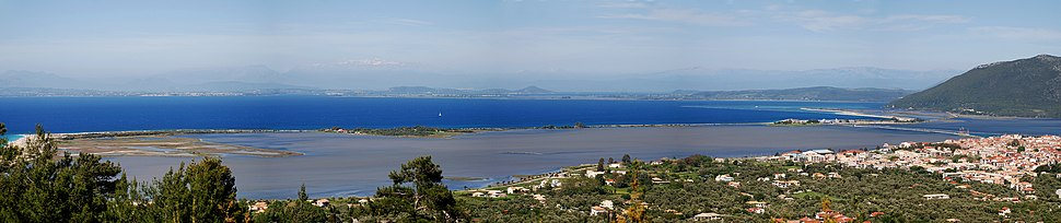 Lefkada City ラグーン、Lefkada Islands イオニア諸島、 ギリシャ