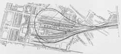 LNWR Underground Loop Line at Euston station, 1907.png