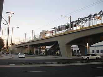 Expo/La Brea station - La Brea/Expo Station under construction in 2011.
