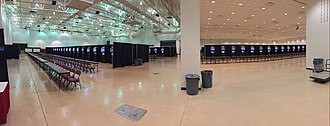 La Crosse Center - La Crosse Center South Hall set up for a dart tournament