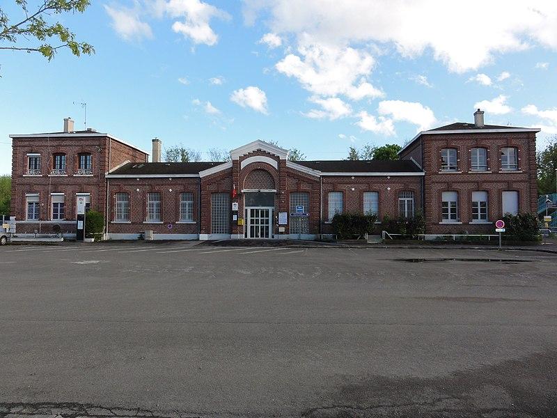 La Fère (Aisne) la gare, façade