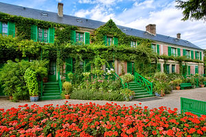 Fondation Monet in Giverny - Claude Monet's house from the garden