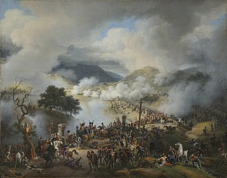 Battle of Somosierra - La bataille de Somo-Sierra, by Baron Lejeune, 1810, oil on canvas.