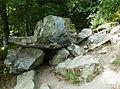 Lac Pavin, le dolmen, Allée sous bois (Rive Ouest).jpg