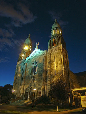 Lachine, Quebec - Church of Saints-Anges-Gardiens, built 1919-1920.