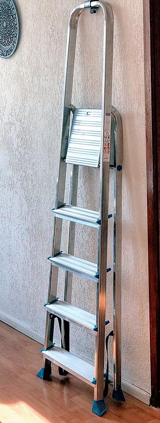 Ladder - An aluminum stepladder