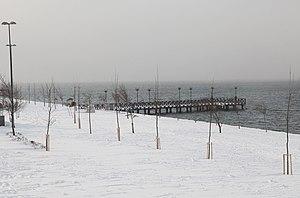 Lake Küçükçekmece - A view of the lake in winter