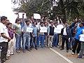 Lambodar Prasad Dash leading Journalists Protest rally.jpg