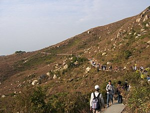 Lamma Island - Walking the trail between Sok Kwu Wan and Yung Shue Wan