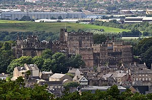 Lancaster Castle - Lancaster Castle as seen from the Ashton Memorial