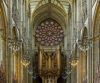 Lancing College - The organ and stained glass