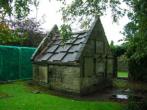 Burial vault (tomb) - The Brisbane family vault, in the graveyard next to Skelmorlie Aisle, Largs.