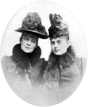 Countess Marie Larisch von Moennich - Countess Marie Larisch (L) and Baroness Mary Vetsera (R)