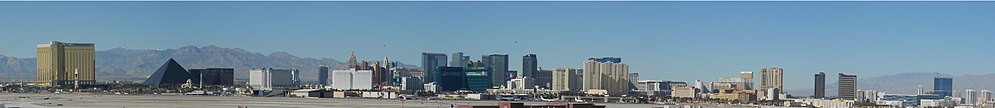Las Vegas Strip from the south east, 2012