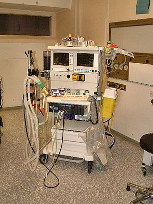 Anaesthetic machine - An anaesthetic machine