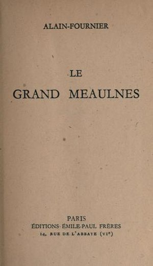 Le Grand Meaulnes - Image: Le Grand Meaulnes Book