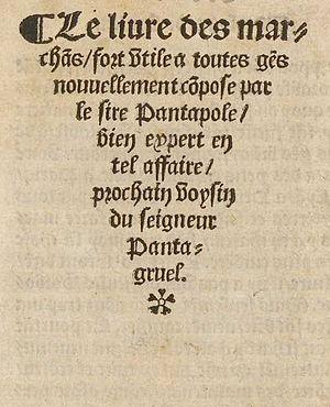 Antoine Marcourt - Le livre des marchans by Antoine Marcourt, 1533.