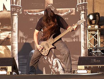 Harold Gielen of Legion of the Damned at Metalcamp, 2009 Legion of the Damned at Metal Camp, Slovenia 2009.jpg