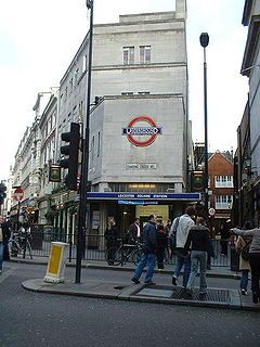 Leicester Square tube station London Underground station