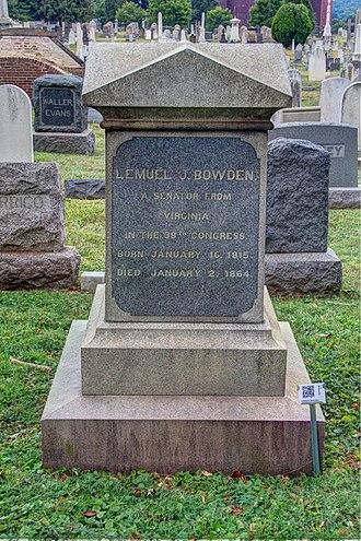Lemuel J. Bowden - Bodwen's grave at the Congressional Cemetery
