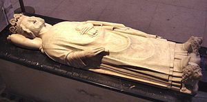 Armenians in France - The tomb of Leon V, the last Armenian king, at the Basilica of St Denis.