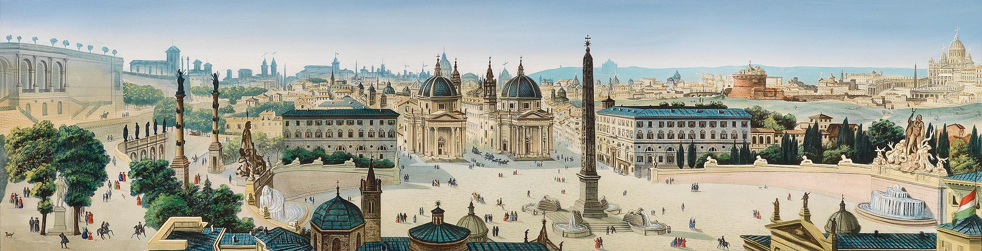 Леопольдо Кальви Panorama von Rom.jpg