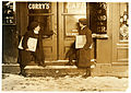 Lewis Hine, Joseph Bishop and brother, newsboys, Hartford, Connecticut, 1909.jpg