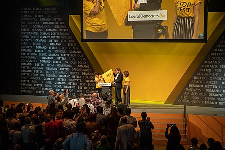 Guy Verhofstadt, the European parliament's Brexit co-ordinator, at the 2019 Liberal Democrats conference Lib Dem party conference in Bournemouth 2019 19.jpg
