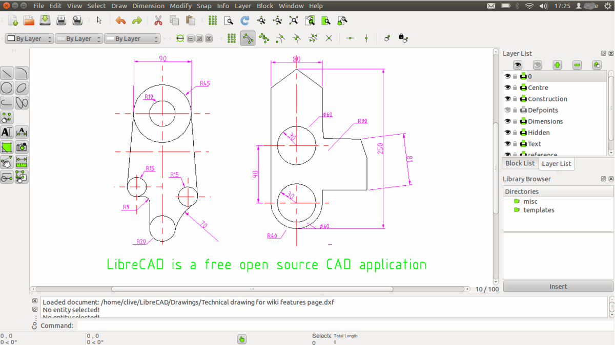 Line Drawing Software Free Download : Librecad wikipedia