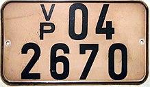 Kennzeichen der Volkspolizei im Bezirk Potsdam; Quelle: Wikipedia