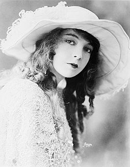 "Lillian Gish, the ""First Lady of the American Cinema"", was a leading star in the silent era with one of the longest careers--1912 to 1987. Lillian Gish-edit1.jpg"