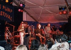 Trowbridge Village Pump Festival - Lindisfarne headlining in 1991