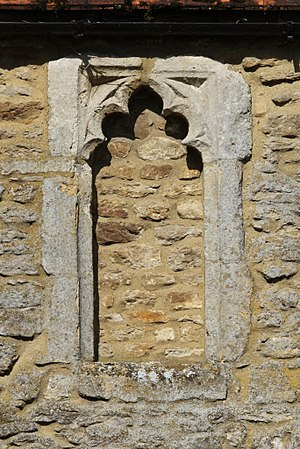 Littlemore - A blocked 15th-century window of the dormitory range of the former priory, now Minchery Farmhouse